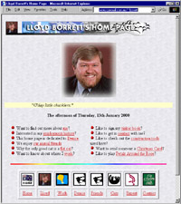 Lloyd Borrett's Home Page 1996