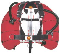 OMS Comfort Harness II with OMS Aluminium Backplate and an OMS 60 lb lift, dual bladder, elastomeric banded wing