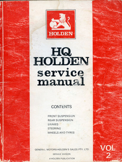 HQ Holden Service Manual - Volume 2